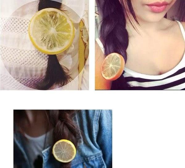 【Miss.Sugar】韓國檸檬髮圈髮夾原宿可愛水果頭飾品超萌皮筋發繩日系髮飾