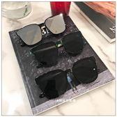 【中秋大降價】方形墨鏡一體平面鏡片太陽鏡男女圓臉時尚太陽鏡