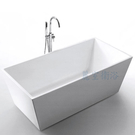 【麗室衛浴】BATHTUB WORLD YG7007  一體薄邊 壓克力造型獨立缸 150*75*58CM