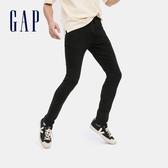 Gap男裝 簡約風格緊身中腰牛仔褲 604000-黑色