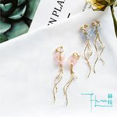 【Hera 赫拉】櫻花曲線珍珠耳夾(2色)
