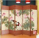 屏風隔斷時尚實木座屏防水布藝屏風客廳臥室玄關中式現代簡約折屏2