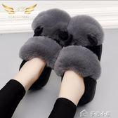 冬棉拖鞋女包跟室內居家居厚底防滑保暖月子鞋韓版冬天毛毛拖鞋 早秋最低價促銷