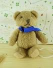 【震撼精品百貨】泰迪熊_Teddy Bear~絨毛磁鐵-藍圍巾