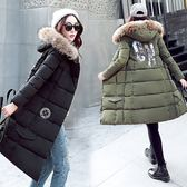 羽絨外套 中長款-時尚百搭連帽保暖女夾克2色73it215【時尚巴黎】