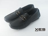 XES 金屬環扣超軟Q休閒鞋 優質鞋飾 男鞋 黑色