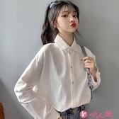 長袖襯衫 職業裝長袖襯衫女秋2021年新款高級感溫柔風很仙的上衣設計感小眾 小天使