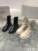 切爾西靴 短靴女秋冬2021年靴子百搭ins學院風中跟馬丁黑色切爾西靴冬 嬡孕哺 免運