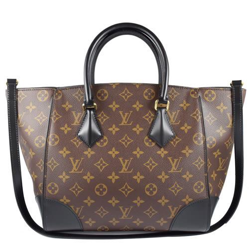 茱麗葉精品 全新精品Louis Vuitton LV M41542 Phenix MM 經典花紋兩用仕女包.黑