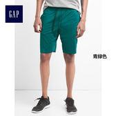 GapFit男裝 磨毛針織休閒短褲 466449-青綠色