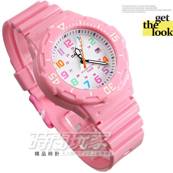 CASIO卡西歐 指針錶 LRW-200H-4B2 日期顯示 正韓 亮面粉紅 38mm 女錶/兒童手錶 LRW-200H-4B2VDF