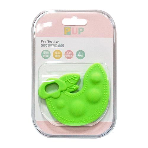 奇哥 PUP Pumpkin Teether 咬咬碗豆固齒器(綠色)[衛立兒生活館]