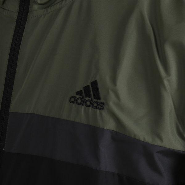 Adidas Hood Jk 男款 軍綠 黑 運動外套 連帽外套 拼接 慢跑 休閒 舒適 防風 外套 DH3998