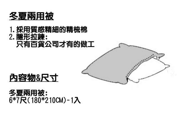 《素色雙色-浪漫情》100%精梳棉【雙人床包6X6.2尺/枕套/雙人兩用被套】粉紅+水藍