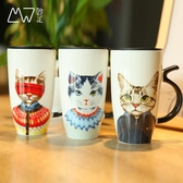 馬克杯 陶瓷馬克杯創意貓先生大容量卡通杯家用帶蓋辦公簡約創意水杯小c推薦