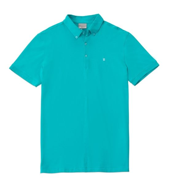【限宅配】HYPER HEROES 男版短袖襯衫款POLO衫-湖水藍 CL1SSM803 (購潮8)