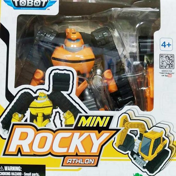 TOBOT Athlon 2 系列MINI Rocky ENG 10號 黃色挖土機 YT01071機器戰士 原廠公司貨 YOUNG TOYS