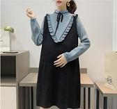 孕婦秋裝套裝時尚款新款潮媽秋冬款洋裝上衣女加厚冬裝毛衣