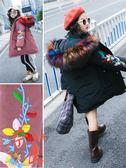 大尺碼女童羽絨棉服外套韓版冬裝中長款加厚洋氣潮【奈良優品】