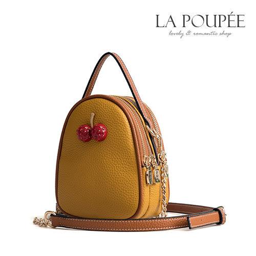 側背包 可愛小櫻桃迷你多夾層小包 4色 -La Poupee樂芙比質感包飾 (現貨+預購)