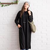 東京著衣-夢展望-素色帽T長版上衣-M(4190070)