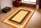 范登伯格 拉斯 狂野絲質地毯/地墊/門墊/踏墊/玄關墊-框索紋70x105cm