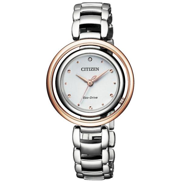 CITIZEN 星辰(EM0668-83A) 光動能 限量 真鑽 女錶/30.5mm