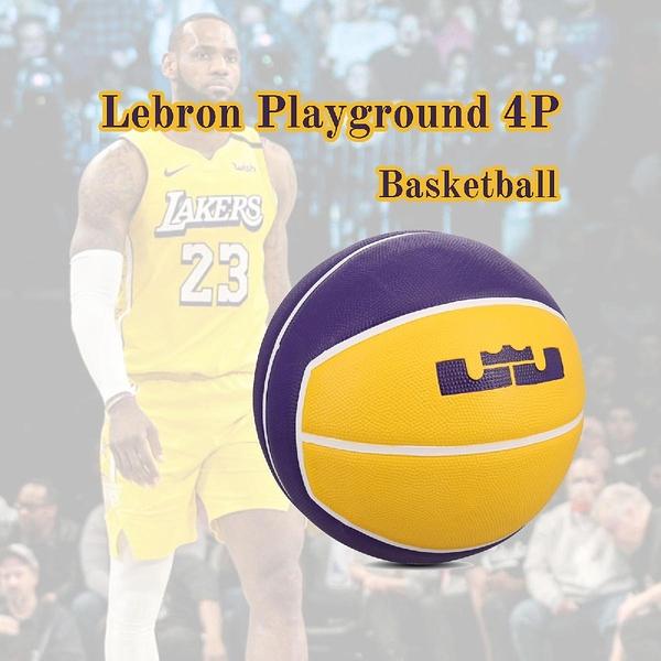 Nike 籃球 Lebron Playground 4P Basketball 黃 紫 7號球 室內外 橡膠 【ACS】 N000278472-807