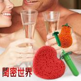 金德恩 二合一不求人沐浴SPA震動海綿棒 愛心/梨子/草莓