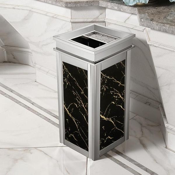 垃圾桶 不銹鋼垃圾桶酒店大堂立式高檔家用商場電梯口戶外灰桶大號商用【快速出貨】