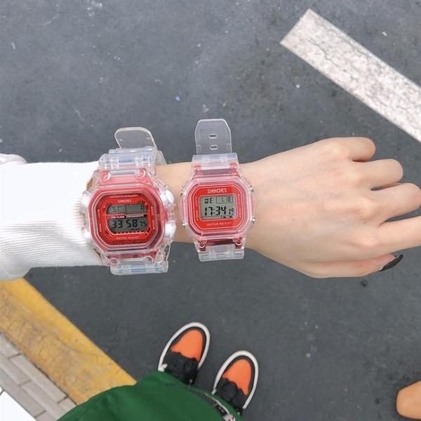 手錶 獨角獸手錶女ins防水方形抖音電子錶中學生韓版潮流ulzzang原宿風 米娜小鋪