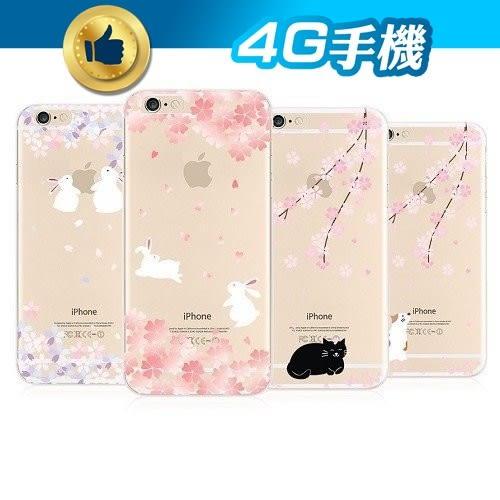 出清 櫻花兔子 造型背蓋 iPhone 6+ Plus 蘋果 清水套 保護套 透明 軟套 New Case 【4G手機】