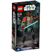 75116【LEGO 樂高積木】星際大戰 組裝戰士 Finn