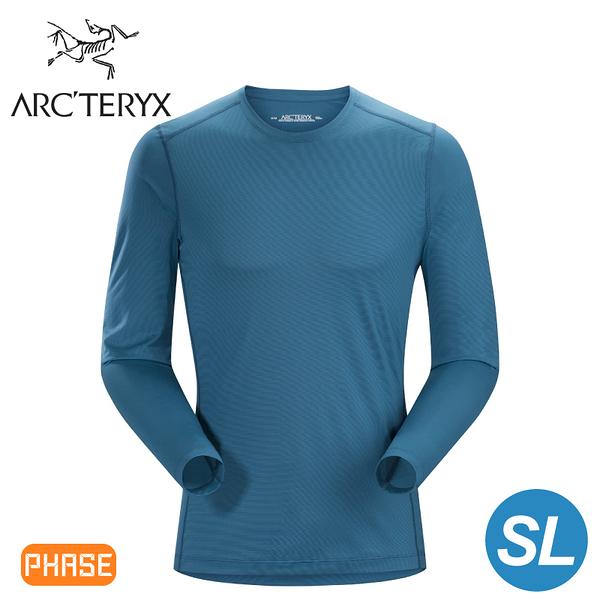 【ARC TERYX 始祖鳥 男 Phase SL 輕量內層長袖圓領衫《神話綠》】16255/超輕薄/透氣快乾