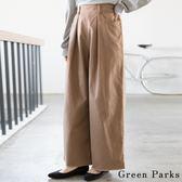 ❖ Hot item ❖ 素面拉絨舒適寬褲 - Green Parks
