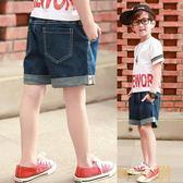 童裝男童牛仔短褲寬鬆中大童沙灘褲