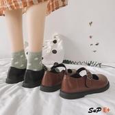 E家人 娃娃鞋 日系 淺口 小皮鞋 英倫  復古 單鞋