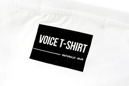 Black & White Voice T-shirt-給我堅強點 (Black)