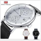 【美國熊】 日本石英機心 大三針 日期顯示 極簡風格 弧形錶面 商務腕錶 附鐵盒  [MNF-085]