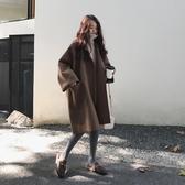 毛呢外套 寬鬆oversize廓形毛呢外套女秋冬韓版學生中長款大碼斗篷呢子大衣 新年慶