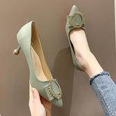 韓版潮流女鞋春季新款休閒單鞋時尚外穿網紅高跟女鞋百搭潮鞋 雙12全館免運
