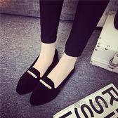 單鞋女新款春款平底網紅百搭軟底尖頭晚晚低跟淺口豆豆瓢鞋潮 夏季新品