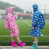 小學初中學生男女小中大兒童胖孩子連體雨衣披帶書包位牛津布加大