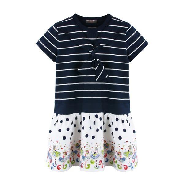 『小鱷魚童裝』條紋拼接洋裝(08號~16號)533356
