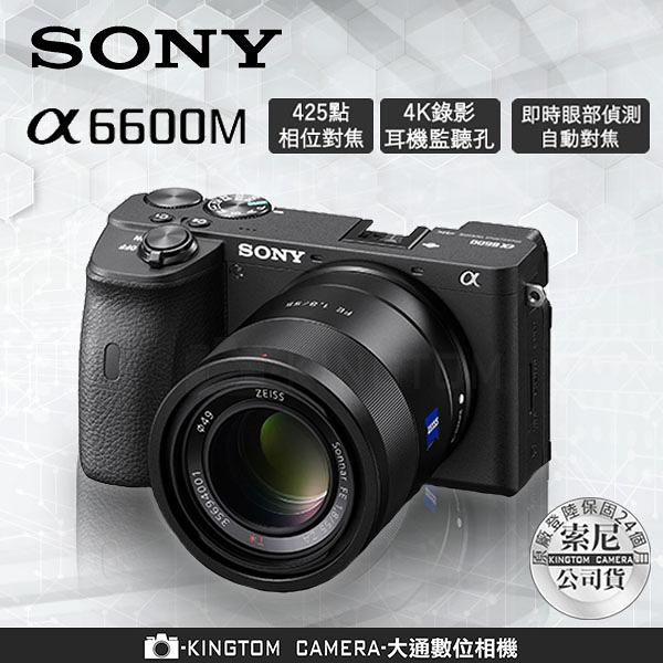 加贈原廠電池 SONY A6600M α6600 SEL18135變焦鏡頭 公司貨 再送128G高速卡+專用電池+座充+相機包
