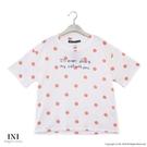【南紡購物中心】【INI】充滿自在、清新圓點舒適上衣.粉色