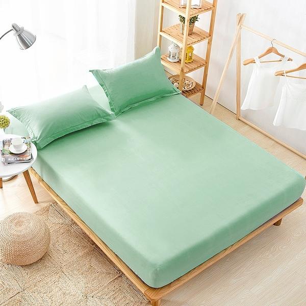單人 100%防水吸濕排汗床包保潔墊(不含枕套)《果綠》