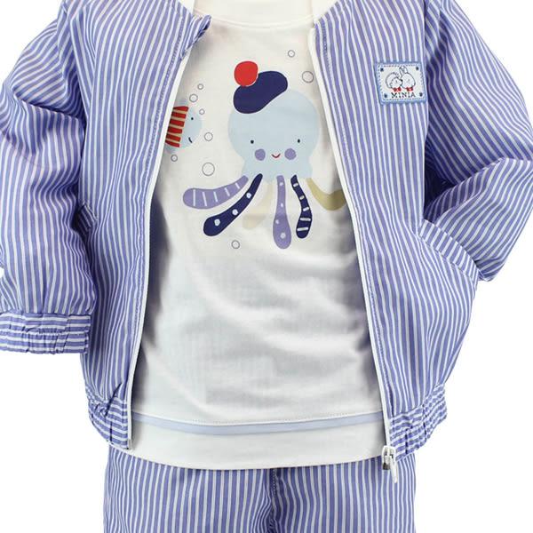 【愛的世界】純棉直條紋夾克/6~12歲-台灣製- ★春夏上著 換季推薦