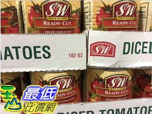 [COSCO代購]  C192113 S & W 切塊番茄2.89公斤