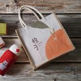 手提便當包帶拉鏈餐包手拎飯盒包防水午餐帶飯包日式【極簡生活】